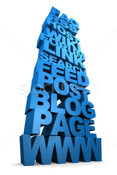 Internet Web Words Stacked Up Stock photo © eyeidea