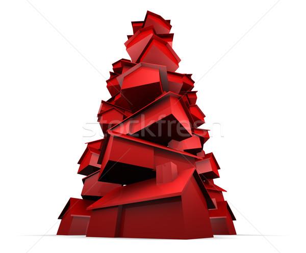 Vermelho casas super alto Foto stock © eyeidea