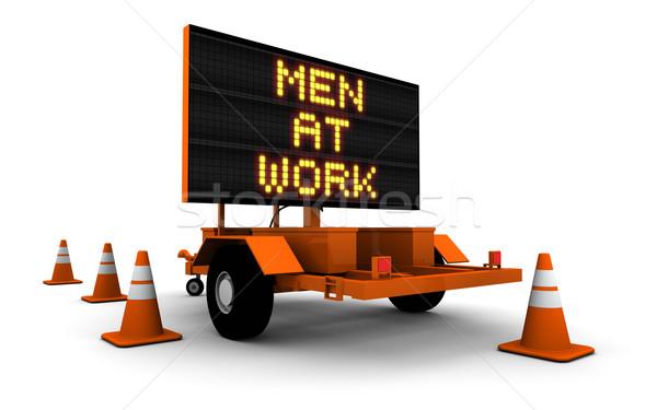 Photo stock: Hommes · travaux · construction · signe · élevé · résolution
