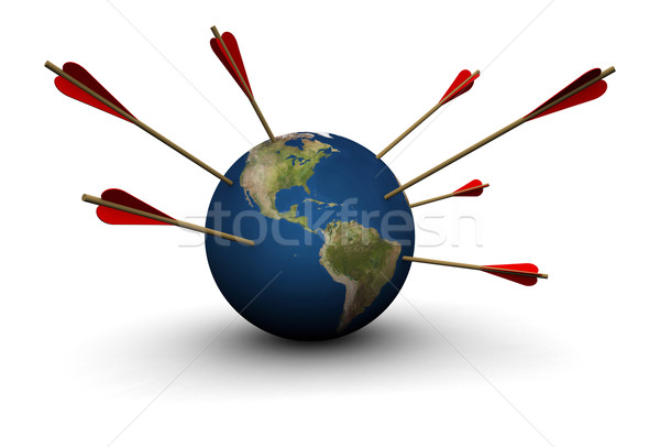 Earth Hit by Arrows Stock photo © eyeidea