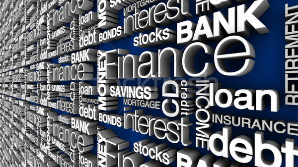Financial Words Stock photo © eyeidea