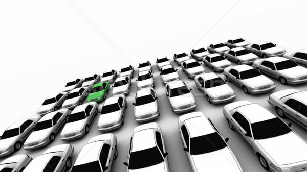 Kırk araba bir yeşil genel Stok fotoğraf © eyeidea