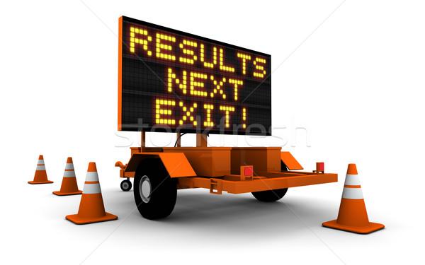 Resultaten bouw teken bericht hoog Stockfoto © eyeidea