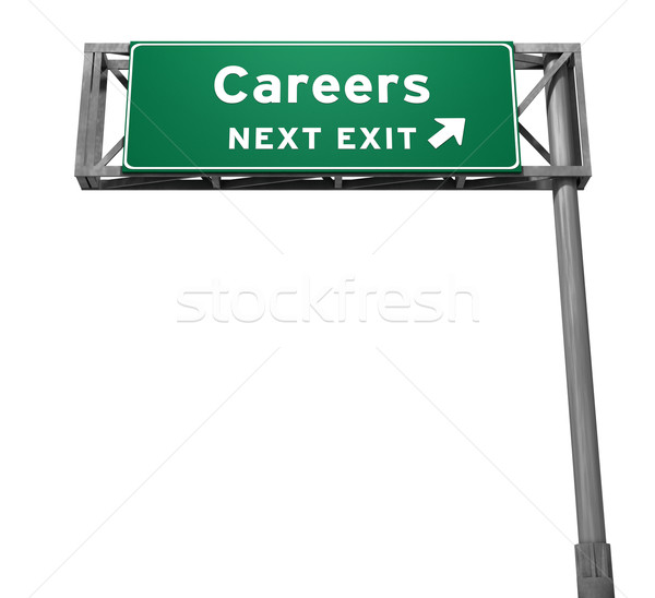 Careers Freeway Exit Sign Stock photo © eyeidea