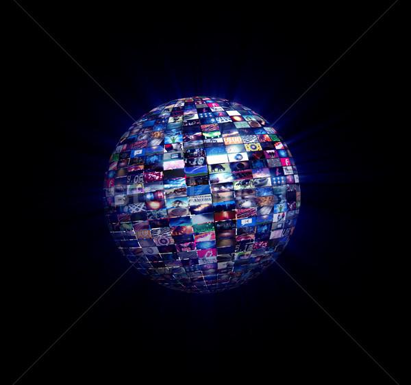Multimédia videofal gömb kép verzió videó Stock fotó © eyeidea