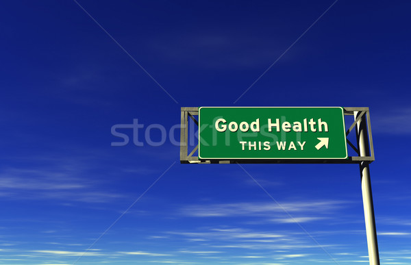Good Health Freeway Sign Stock photo © eyeidea