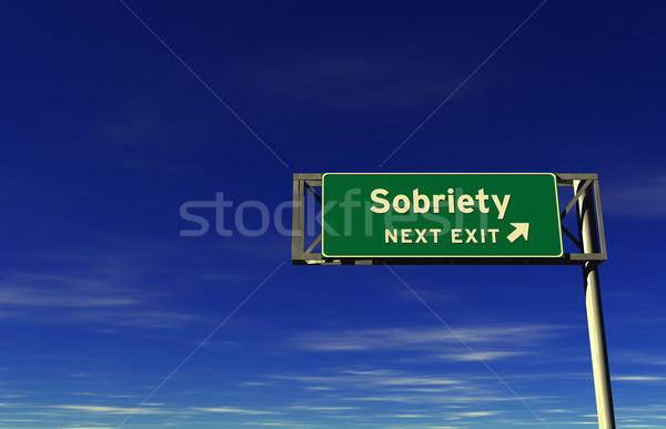 Sobriety - Freeway Exit Sign Stock photo © eyeidea
