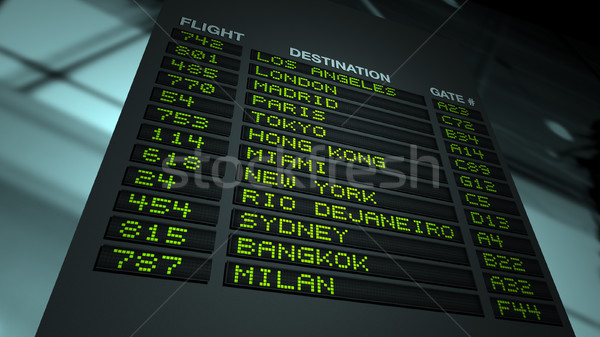 Airport Flight Information Board Stock photo © eyeidea