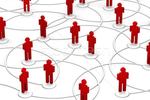 Sieci ludzi komunikacji linki wysoki Zdjęcia stock © eyeidea