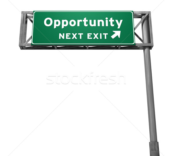 Opportunity Freeway Exit Sign Stock photo © eyeidea
