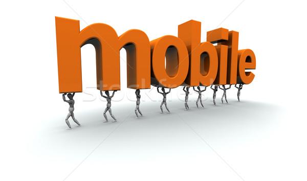 Equipe pessoas móvel 3D palavra Foto stock © eyeidea
