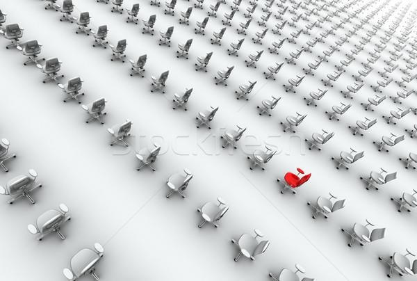 Escritório cadeiras um vermelho alto qualidade Foto stock © eyeidea