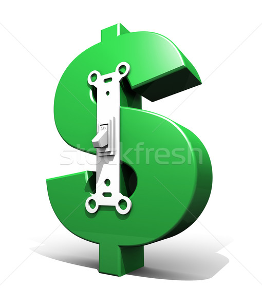 Dólar símbolo poder mudar verde Foto stock © eyeidea