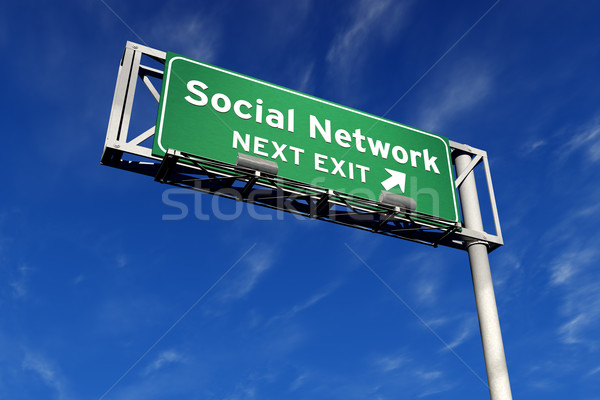 Social Network - Freeway Sign Stock photo © eyeidea