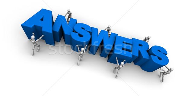 Equipe pessoas palavra respostas 3D Foto stock © eyeidea