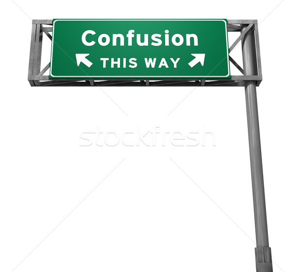 Confusion - Freeway Exit Sign Stock photo © eyeidea