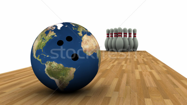 Earth Bowling! Stock photo © eyeidea