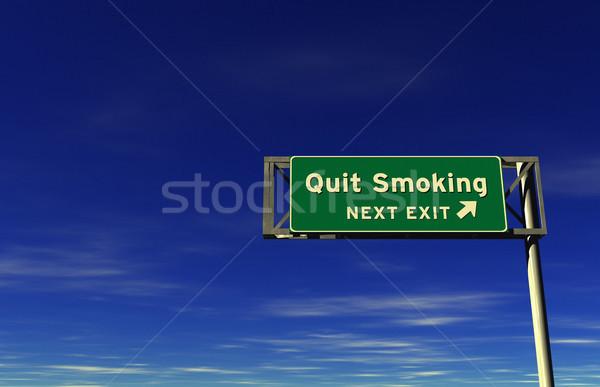 Sigara içme otoban imzalamak çıkmak Stok fotoğraf © eyeidea