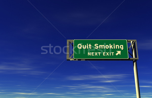 Quit Smoking - Freeway Exit Sign Stock photo © eyeidea