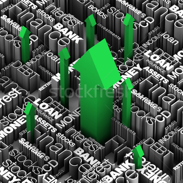 Financial Words -  Arrows Up Stock photo © eyeidea