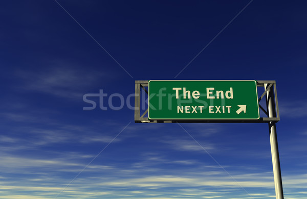 The End - Freeway Exit Sign Stock photo © eyeidea