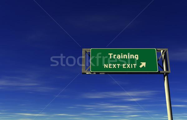 Ausbildung Autobahn exit sign Super groß Auflösung Stock foto © eyeidea