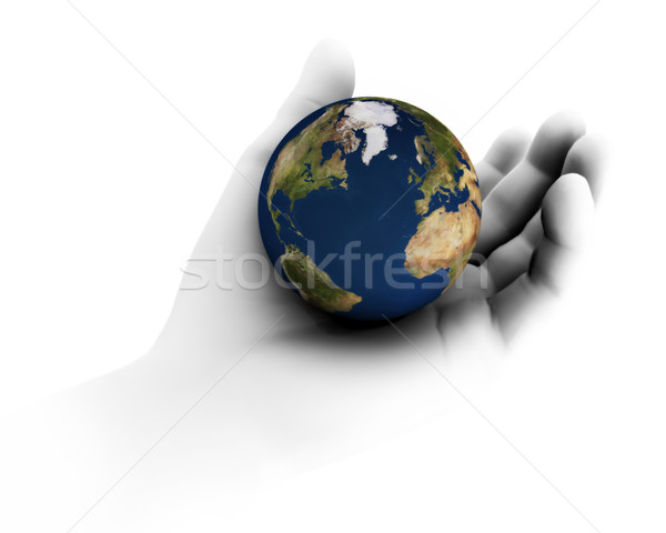 Holding the Earth In Hand Stock photo © eyeidea