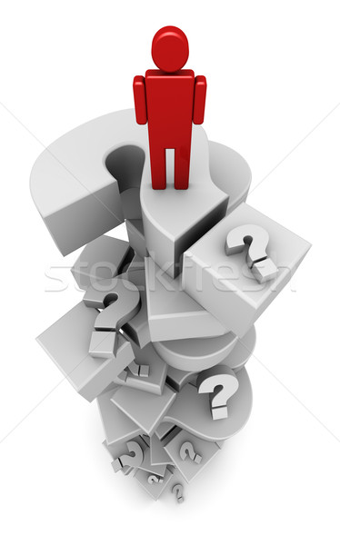 Person Standing on Question Marks Stock photo © eyeidea