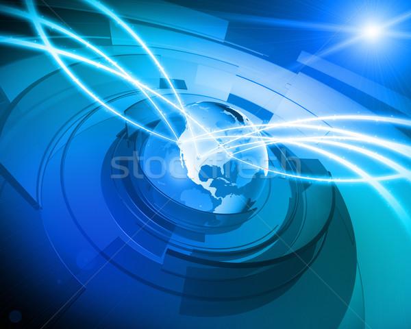 Monde monde numérique réseau connexion élevé Photo stock © eyeidea