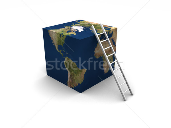 Earth Cube + Ladder Stock photo © eyeidea