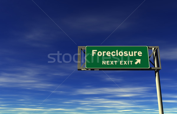 Foreclosure - Freeway Exit Sign Stock photo © eyeidea
