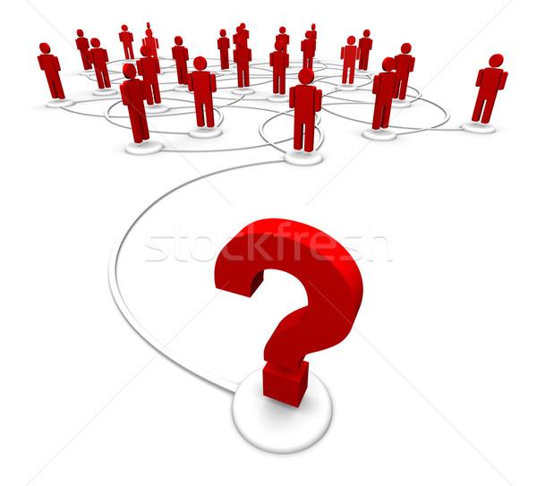 Interrogation personnes réseau élevé résolution 3d illustration Photo stock © eyeidea