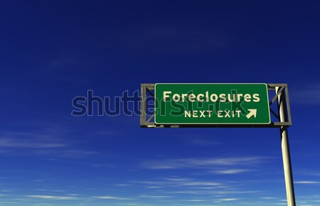 Happiness - Freeway Exit Sign Stock photo © eyeidea