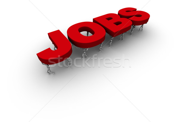 Zespołu ludzi słowo oferty pracy 3D Zdjęcia stock © eyeidea