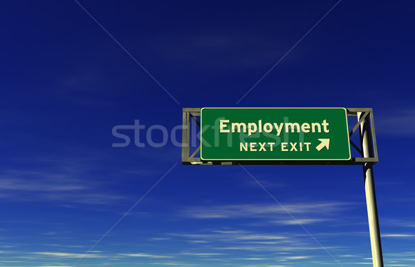Employment Freeway Exit Sign Stock photo © eyeidea