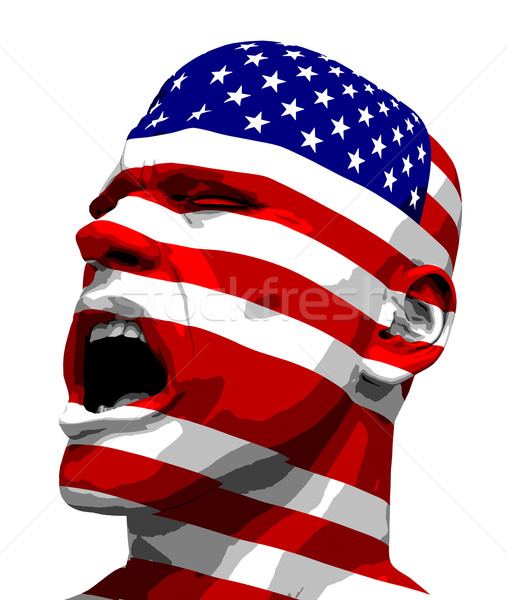 USA Flag Man Yelling Stock photo © eyeidea