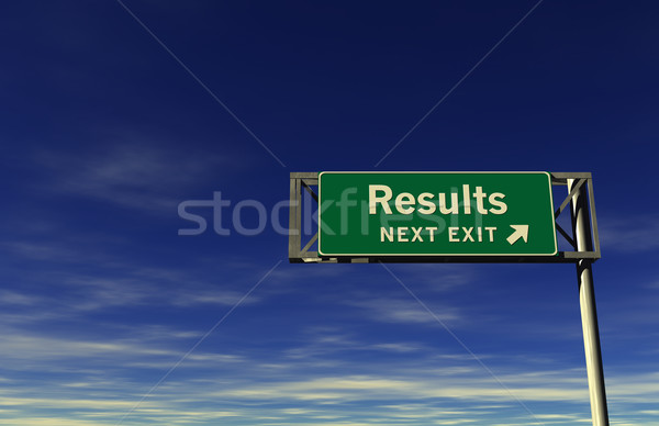 Results Freeway Exit Sign Stock photo © eyeidea