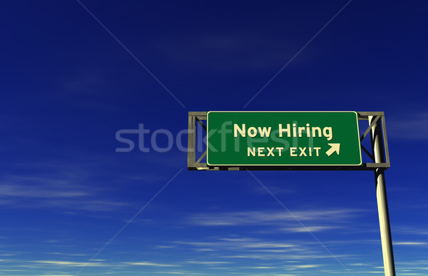 Now Hiring - Freeway Exit Sign Stock photo © eyeidea