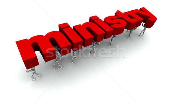 Team mensen ministerie 3D woord Stockfoto © eyeidea