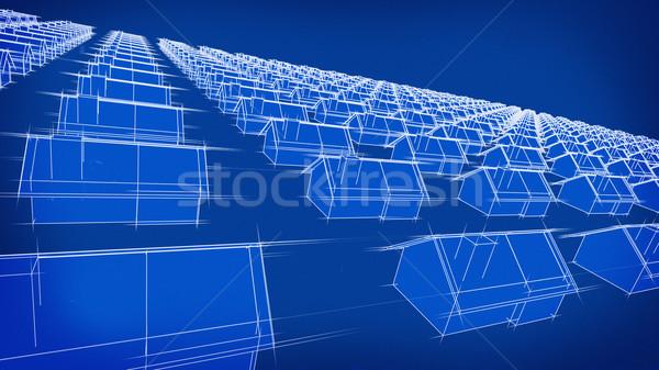 Diagrama casas ilustração veja efeito quantidade Foto stock © eyeidea