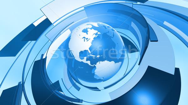 Foto stock: Mundo · mundo · gráfico · conexión · alto