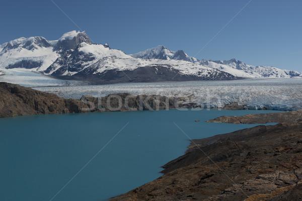 Glacier panoramique lac paysage neige montagne Photo stock © faabi