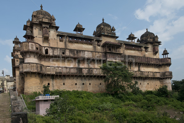 Importante palácio edifício asiático indiano antigo Foto stock © faabi
