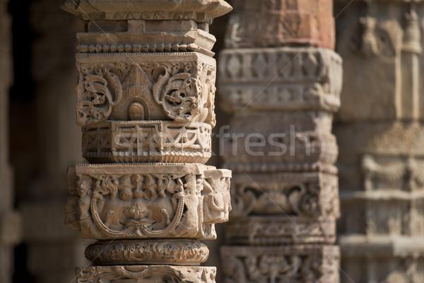 Delhi ősi városi iszlám turizmus szabadtér Stock fotó © faabi