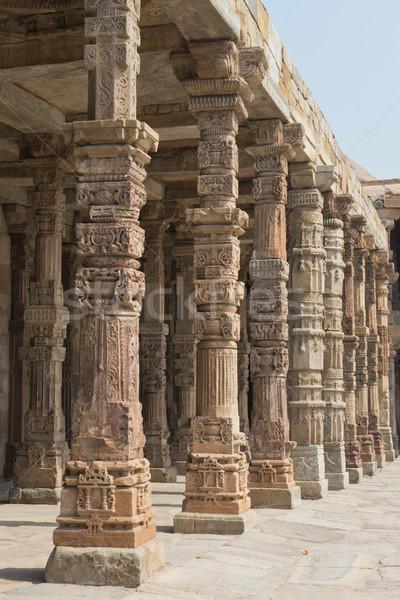 Délhi antigo Índia decorado urbano islão Foto stock © faabi
