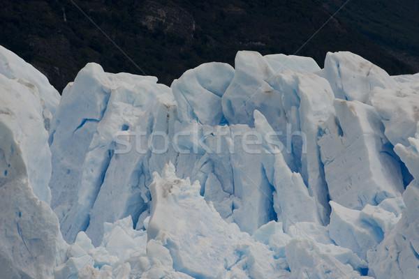 Stock fotó: Gleccser · kilátás · egy · park · szemben · tó