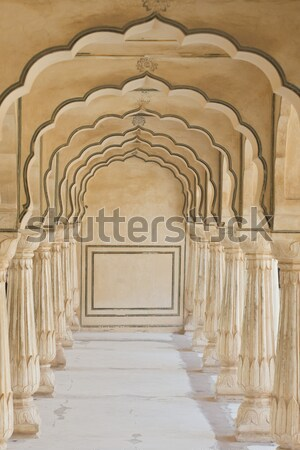 Amber fort paleis Indië Stockfoto © faabi