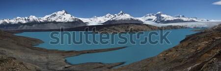 氷河 パノラマ 湖 風景 雪 山 ストックフォト © faabi