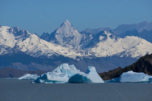 Iceberg lago spettacolare blu parco Foto d'archivio © faabi