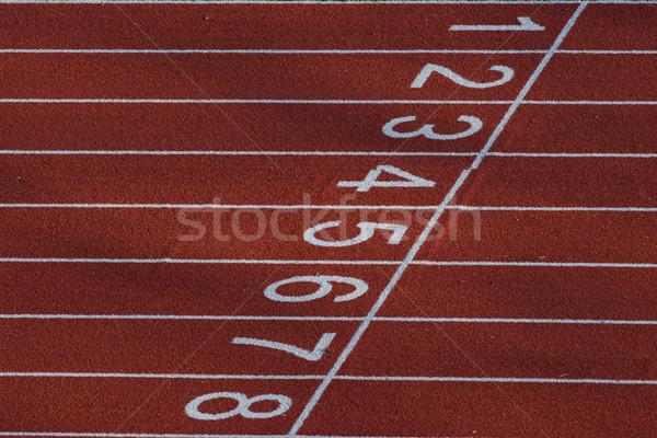 Seguir partida vermelho esportes corrida Foto stock © faabi